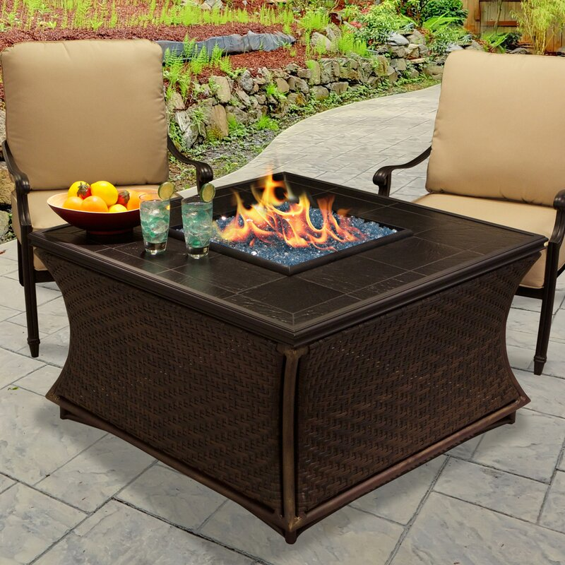 Mendocino Propane Fire Pit Table