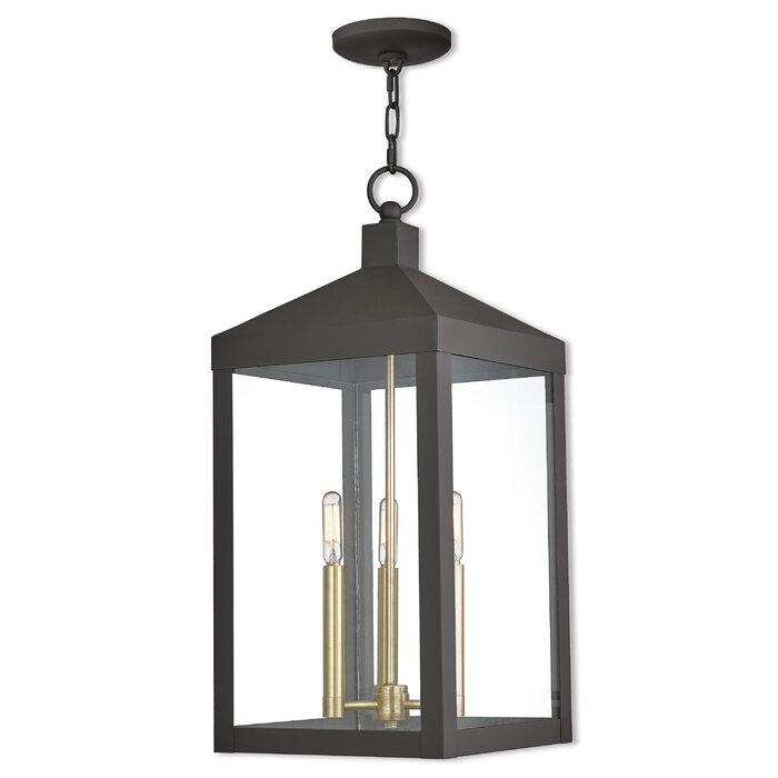 Demery 3 Light LED Outdoor Hanging Lantern