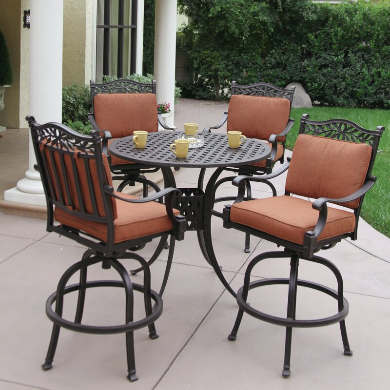 Superieur Fairmont 5 Piece Bar Height Dining Set With Cushions