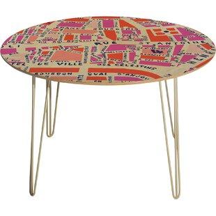Holli Zollinger Paris Map Pink Dining Table