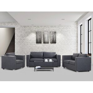 Lieida 3 Piece Living Room Set by Home Loft Concepts