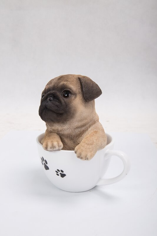 teacup pug puppy hi line gift ltd teacup pug puppy statue reviews wayfair 6461