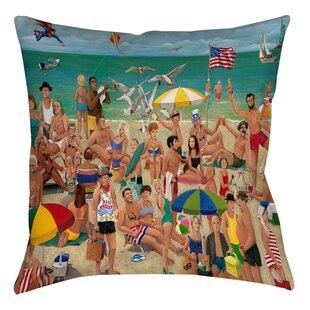 Makarand Beach Throw Pillow