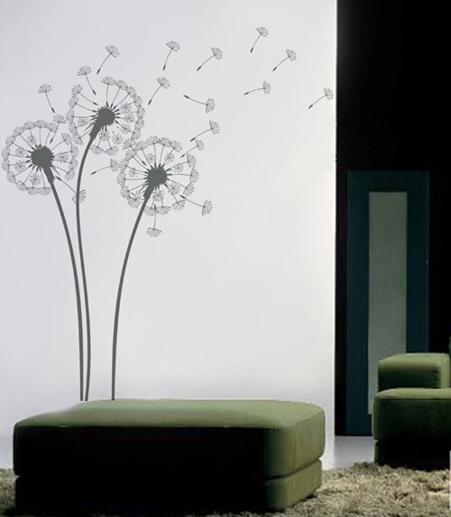 Beau Natural Flowers Dandelions Wall Decal