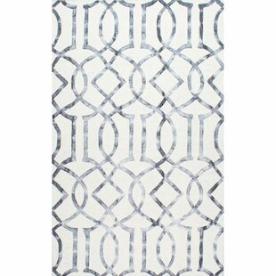 Bargain Shores Hand-Tufted Silver Area Rug By Willa Arlo Interiors