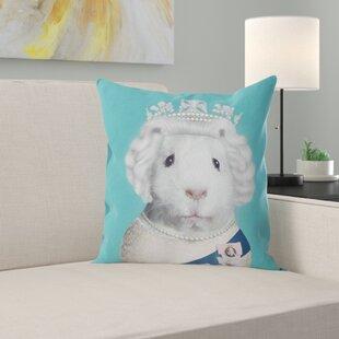 Pets Rock HRH (on Plain Teal) Cushion