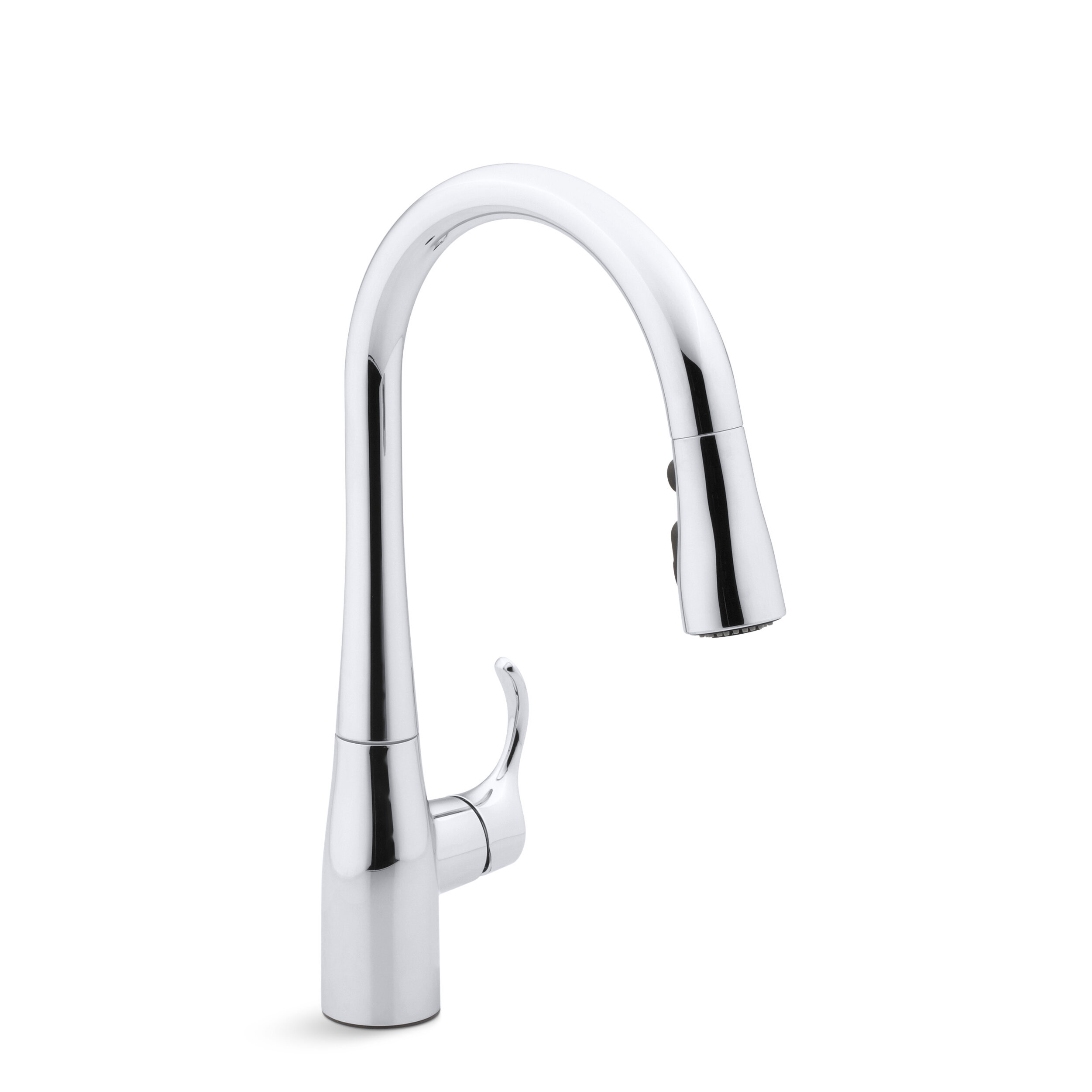 pull gold sprayer polished single spring down kitchen p handle faucet sink h