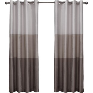 newton striped room darkening grommet curtain panels set of 2 - Formal Living Room Drapes