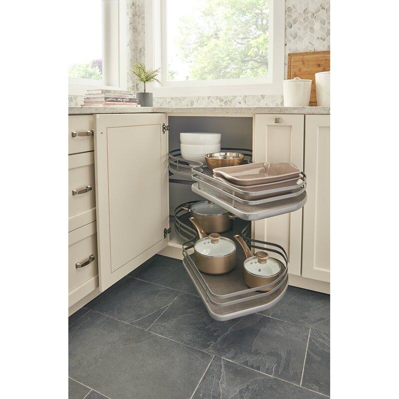 Blind Corner Kitchen Cabinet: Rev-A-Shelf Right-Handed 2 Tier Blind Corner Cabinet