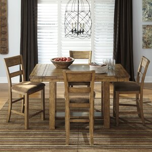 Cowley 5 Piece Counter height Dining Set by Loon Peak