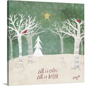 'Christmas Trees' Painting Print on Wrapped Canvas