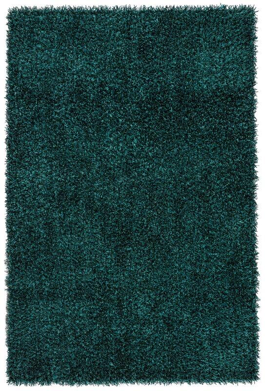 woodside teal blue shag area rug