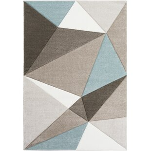 Browne Gray Blue Brown Area Rug