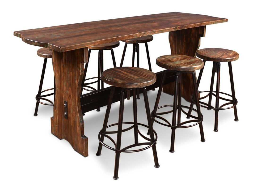 August Grove Conrad 7 Piece Counter Height Pub Table Set & Reviews