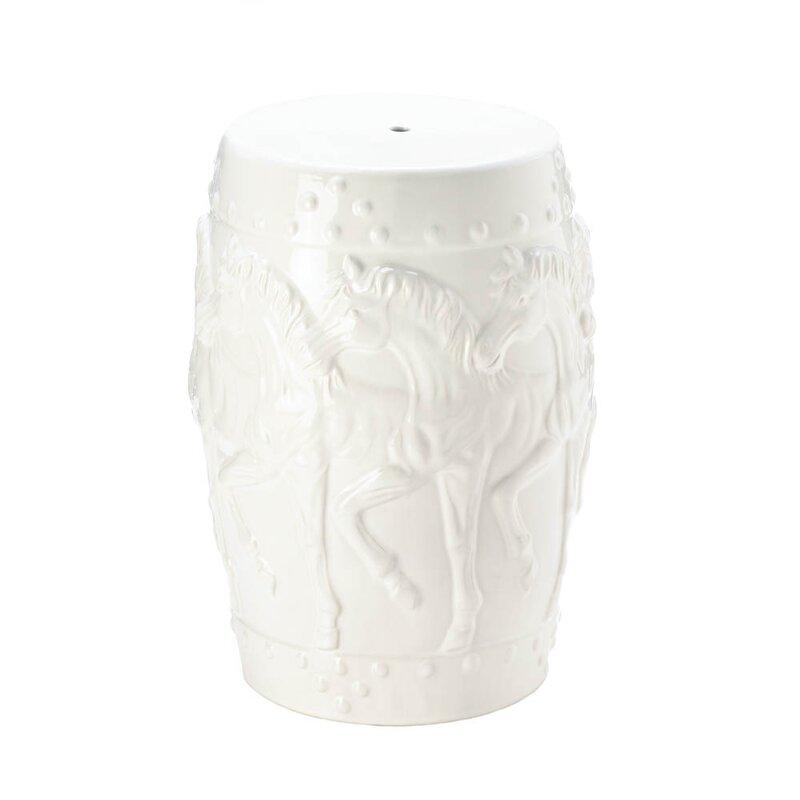 askew horses ceramic garden stool - Ceramic Garden Stool