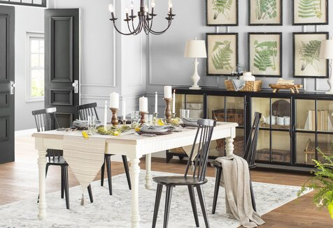 Cottage Country Dining Room Design