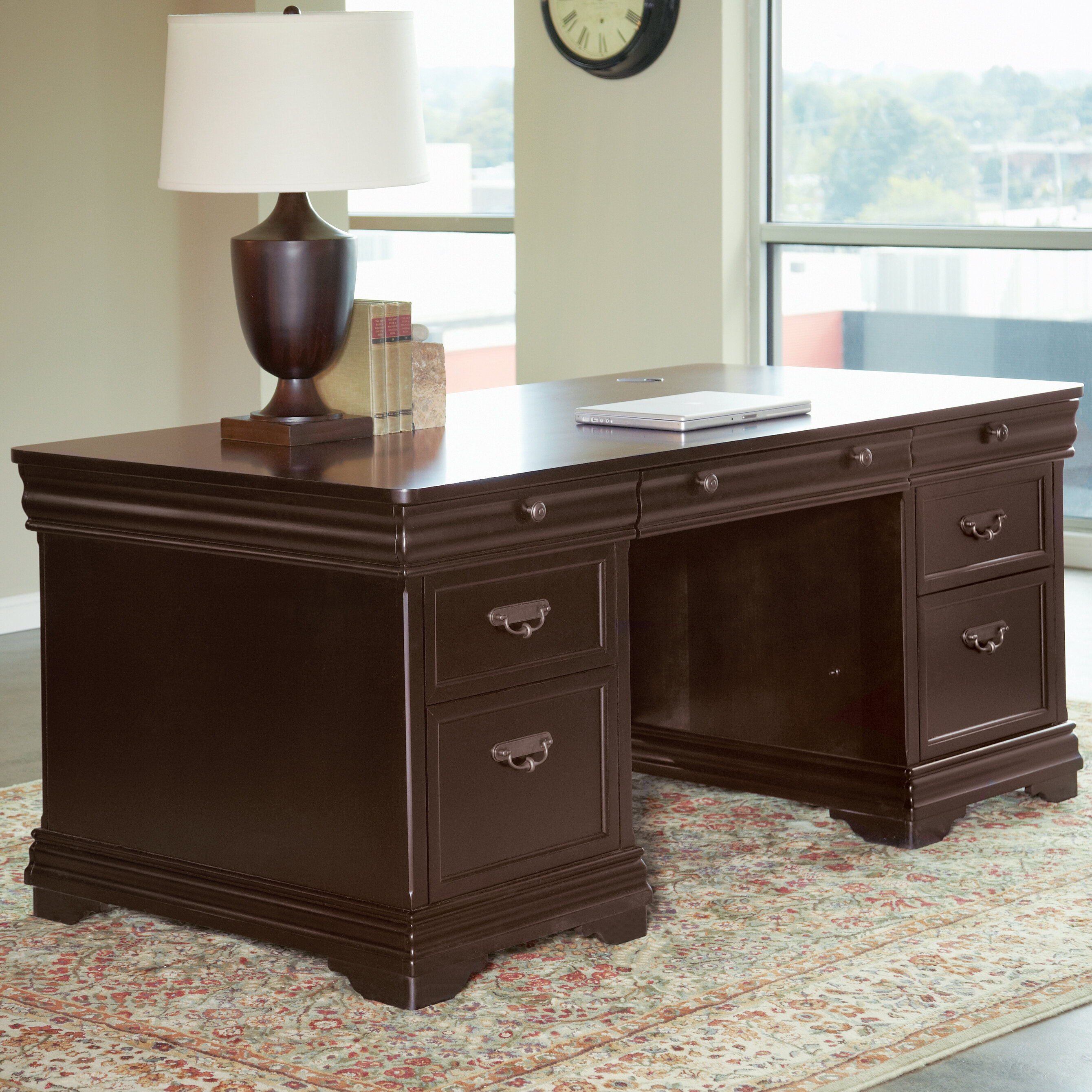 Prime Lou Solid Wood Executive Desk Download Free Architecture Designs Scobabritishbridgeorg