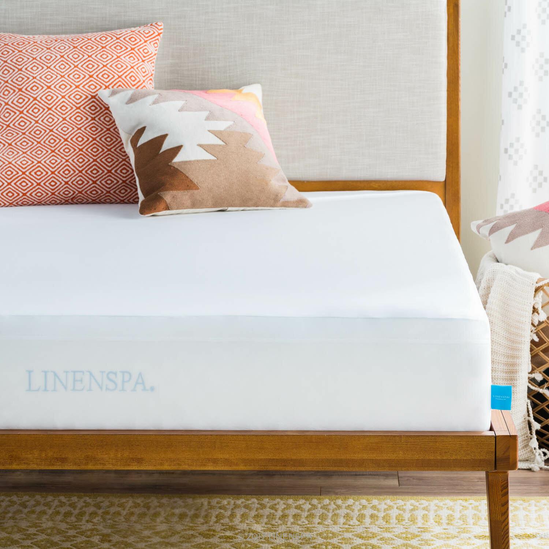 Linenspa Smooth Hypoallergenic Waterproof Mattress Protector