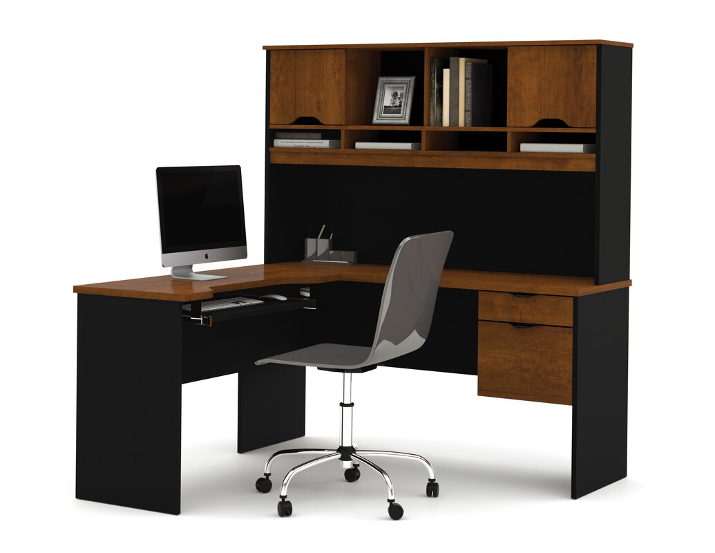 Innova L Shape Executive Desk With Hutch