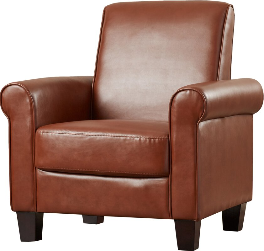 Three Posts Ravenwood Faux Leather Armchair Amp Reviews