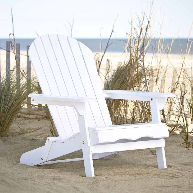 Birch Lane Ridgeline Solid Wood Folding Adirondack Chair