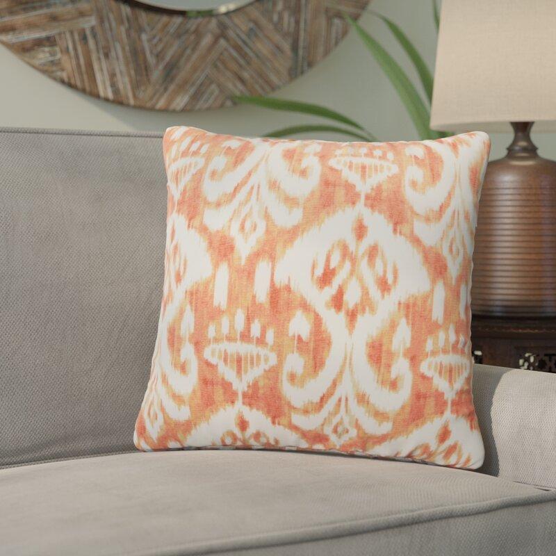 Bungalow Rose Marisa Ikat Outdoor Throw Pillow Wayfair