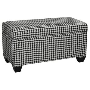 Upholstered Cotton Berne Storage Ottoman by Skyline Furniture