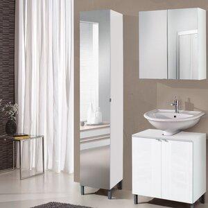 32 cm x 182 cm Freistehender Badschrank Milan von Belfry Bathroom