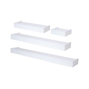 White Floating Wall Shelf floating & hanging shelves you'll love | wayfair
