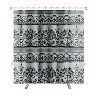 Gecko Lace Pattern Premium Shower Curtain