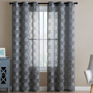 Modern Geometric Curtains Drapes