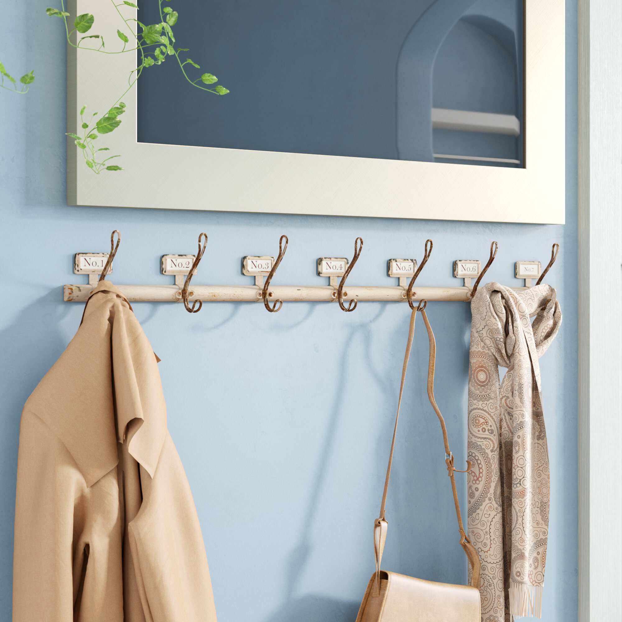 Birch Lane™ Rustic Numbered Coat Hooks & Reviews | Birch Lane
