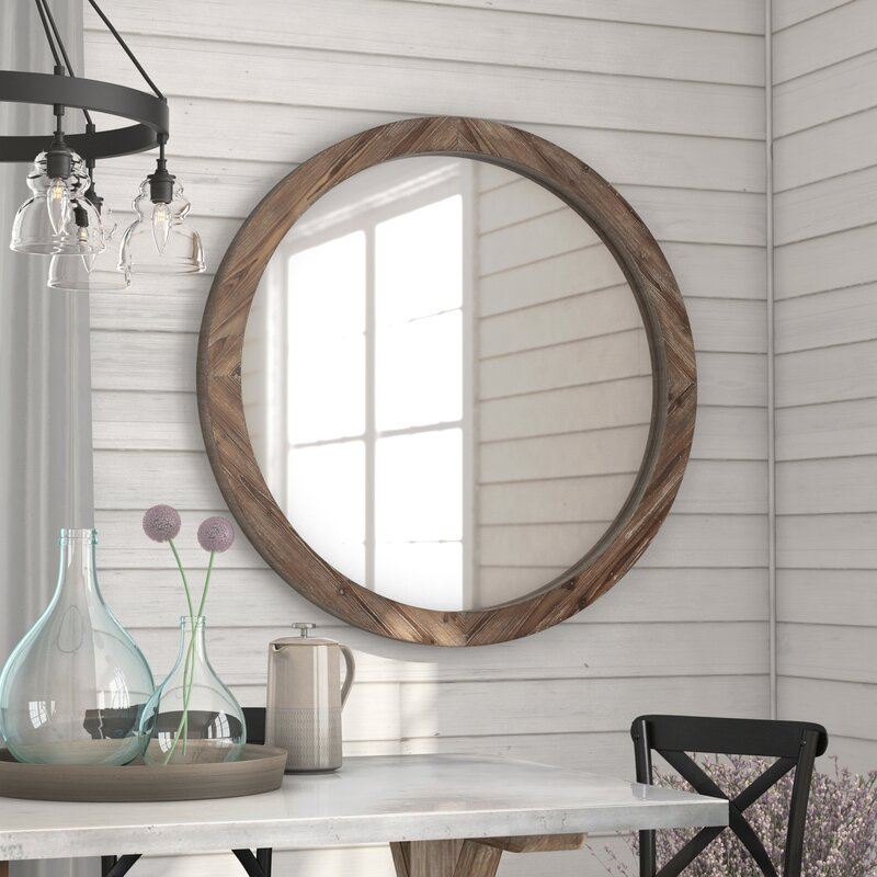 Union Rustic Booker Round Wood Wall Mirror Amp Reviews Wayfair