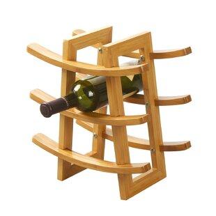Harless Bamboo 9-Bottle Tabletop Wine Rack