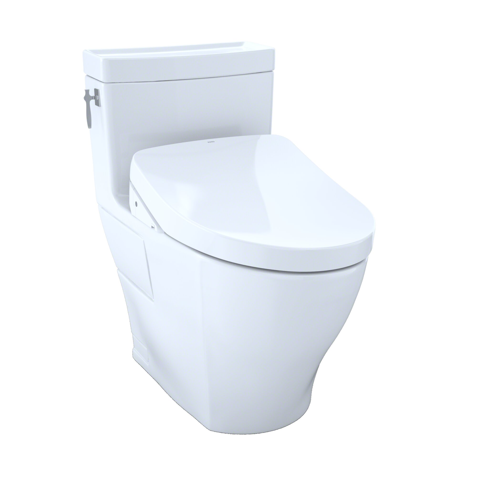 Toto Aimes 1.28 GPF Elongated One-Piece Toilet with Ewater+ | Wayfair