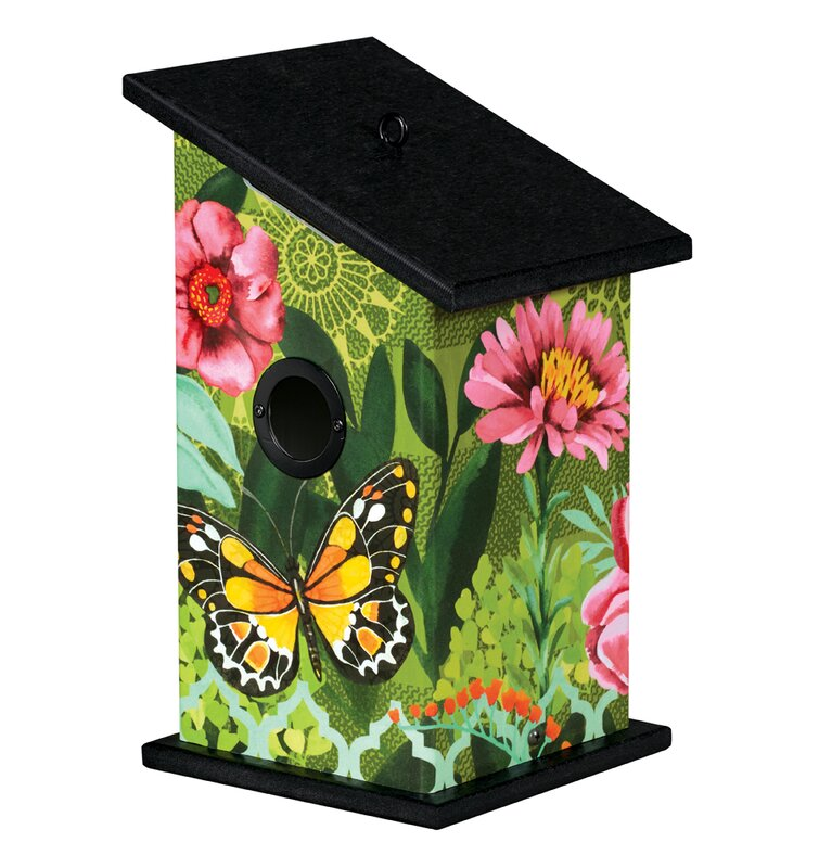 Butterfly's Paradise Universal 12.25 in x 7 in x 7 in Birdhouse