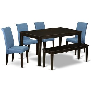 Delphin 6 Piece Solid Wood Dining Set