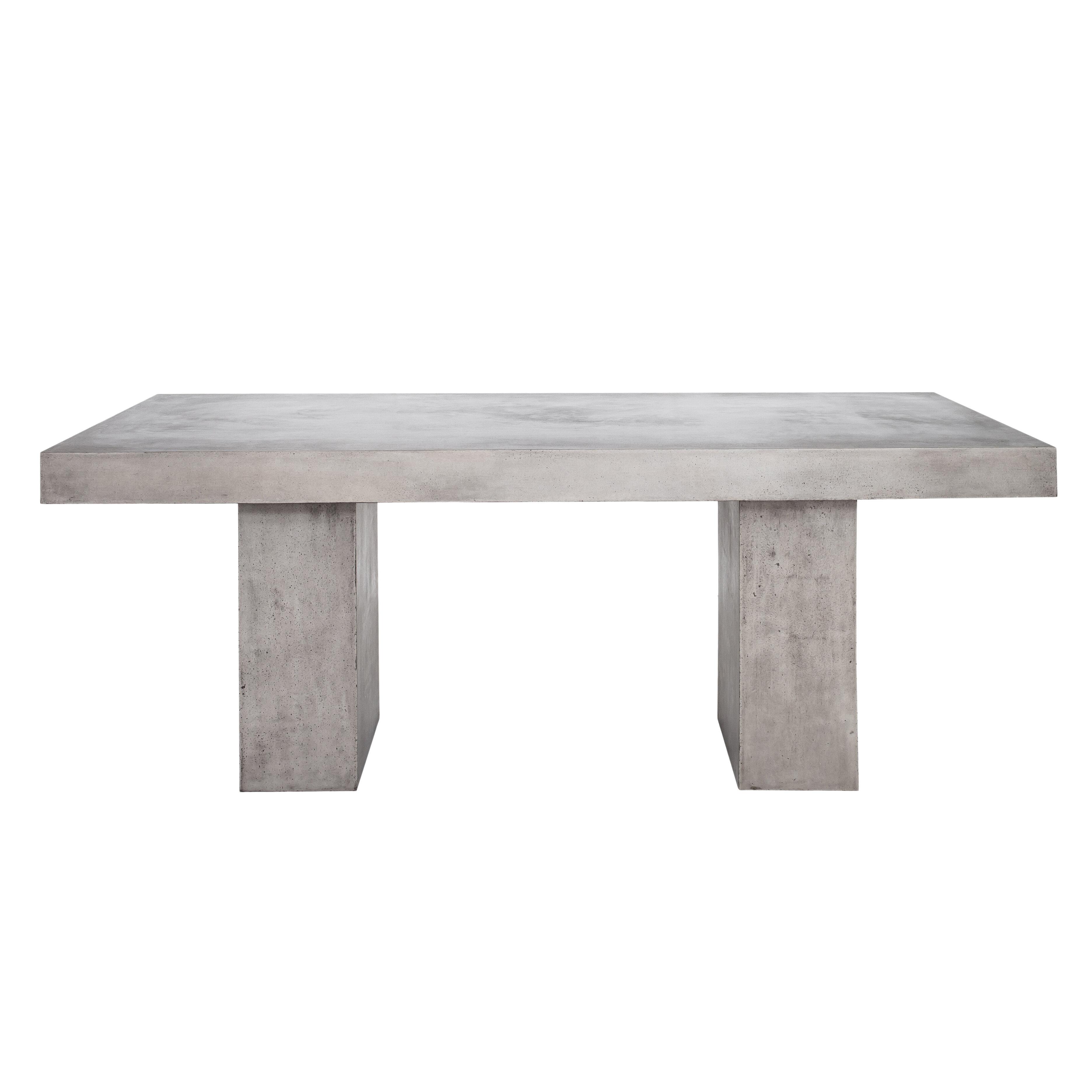 Dinsmore stone concrete dining table reviews allmodern