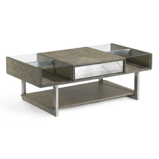 Oak Mirrored Coffee Tables Youll Love Wayfair - Wayfair mirrored coffee table