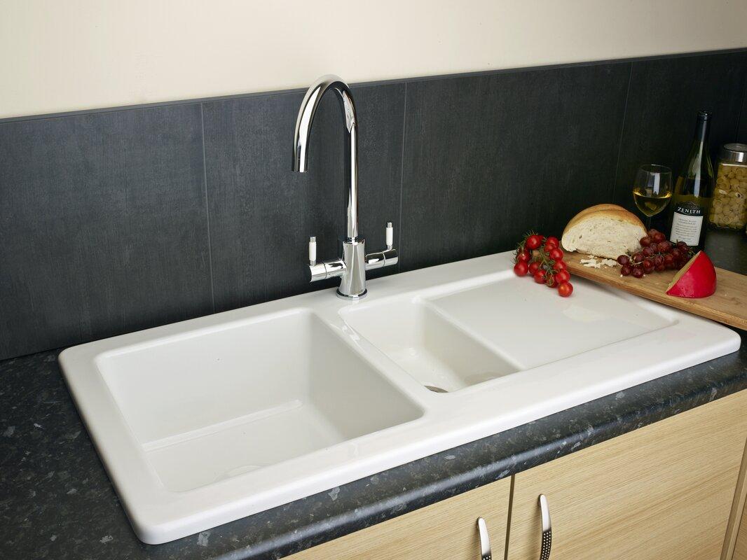 Reginox 100cm x 50cm Inset Kitchen Sink with Waste Outlet ...