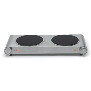 Portable 21 Electric Cooktop With 2 Burners