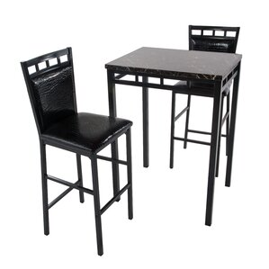 Emmett 3 Piece Pub Table Set by Latitude Run