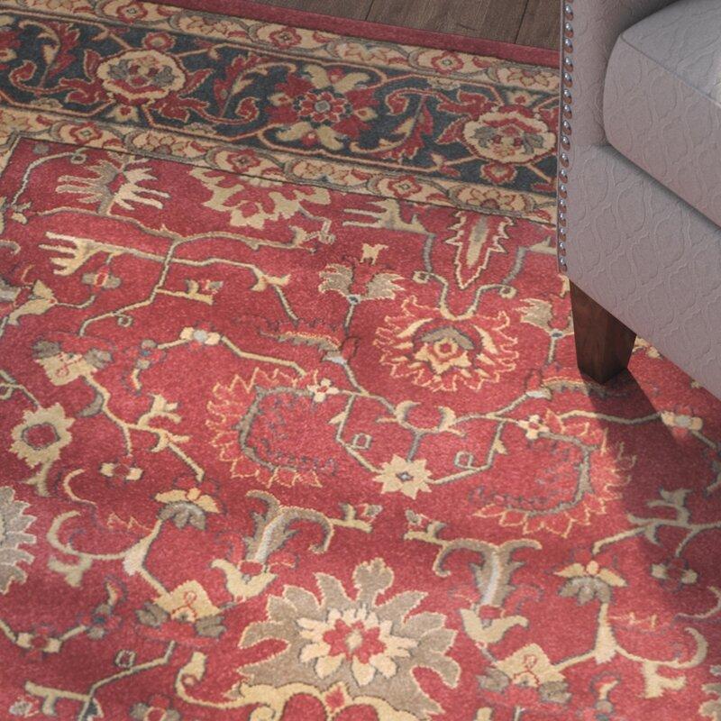 charlton home coleraine red area rug  u0026 reviews