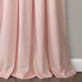 Elzira Solid Semi Sheer Thermal Rod Pocket Curtain Panels Set Of 2