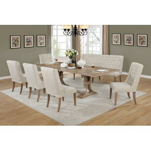 Kitchen Dining Sets Joss Main - White dining room table with bench and chairs