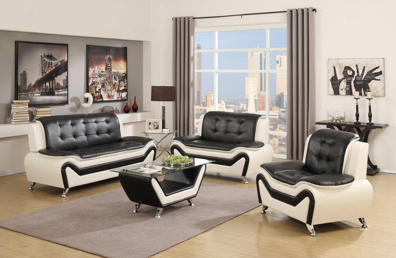 Latitude Run Elzada 4 Piece Living Room Set & Reviews   Wayfair
