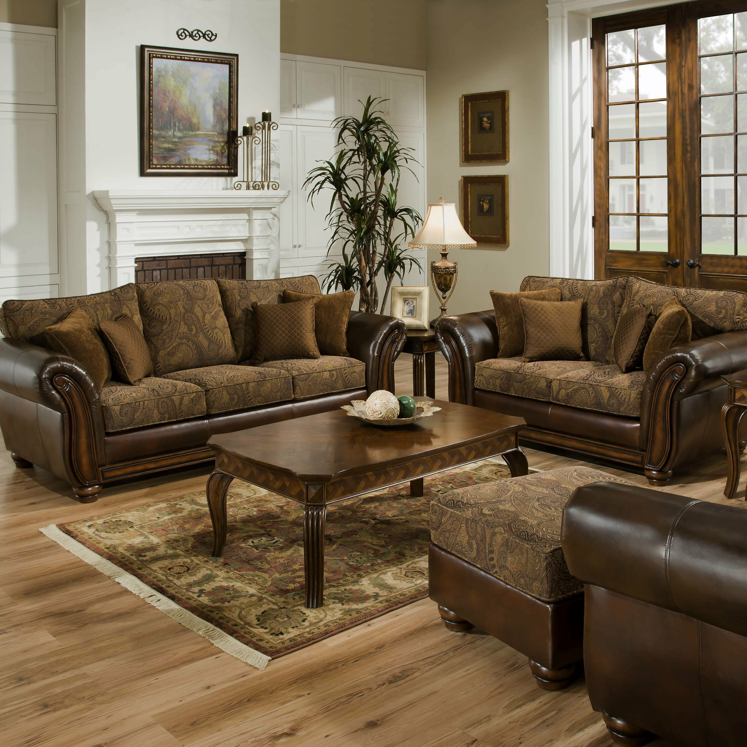 brown size sets leather furniture room sofa complete living loveseat couch ashley and sofas of full