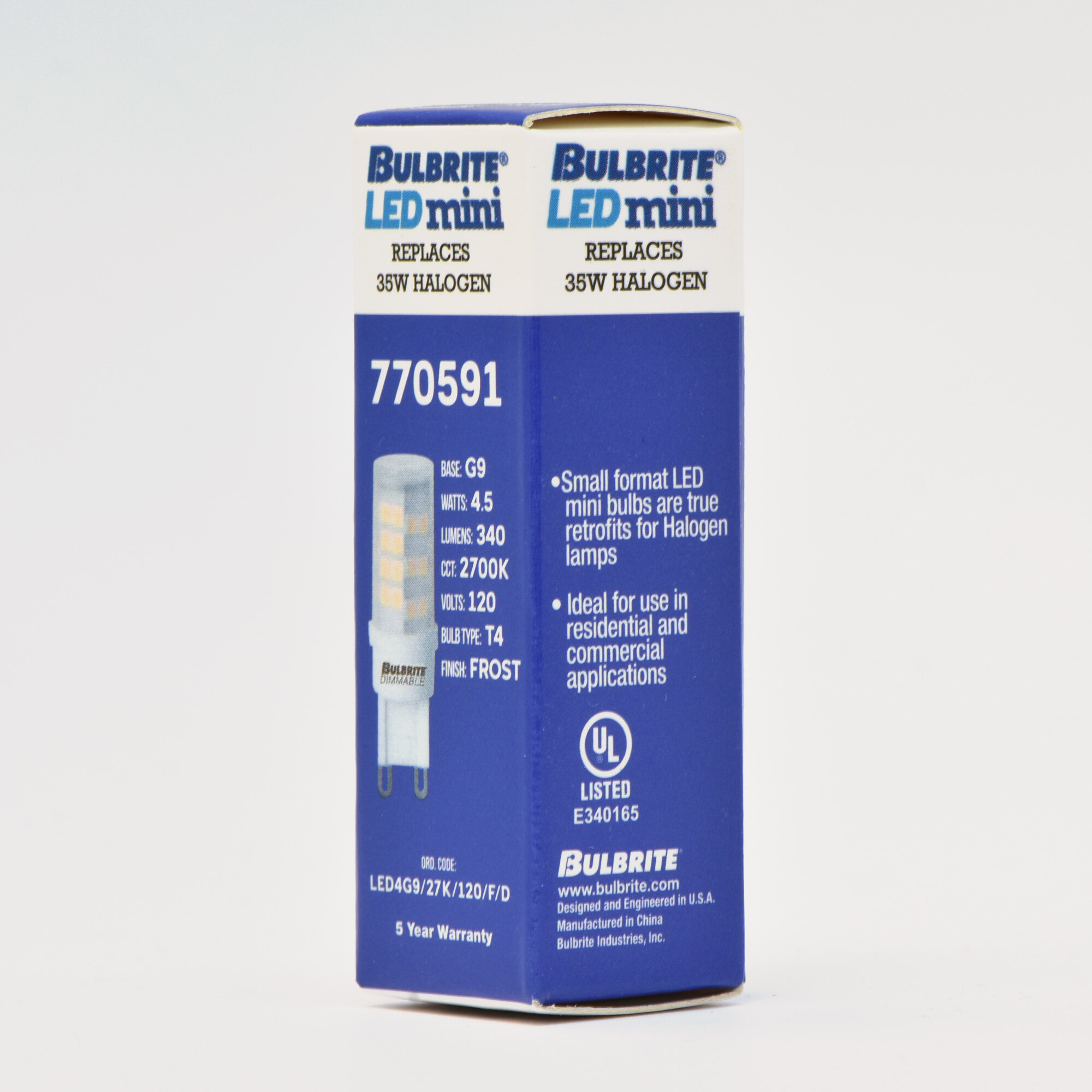 Bulbrite Industries 5w G9 Dimmable Led Light Bulb Wayfair