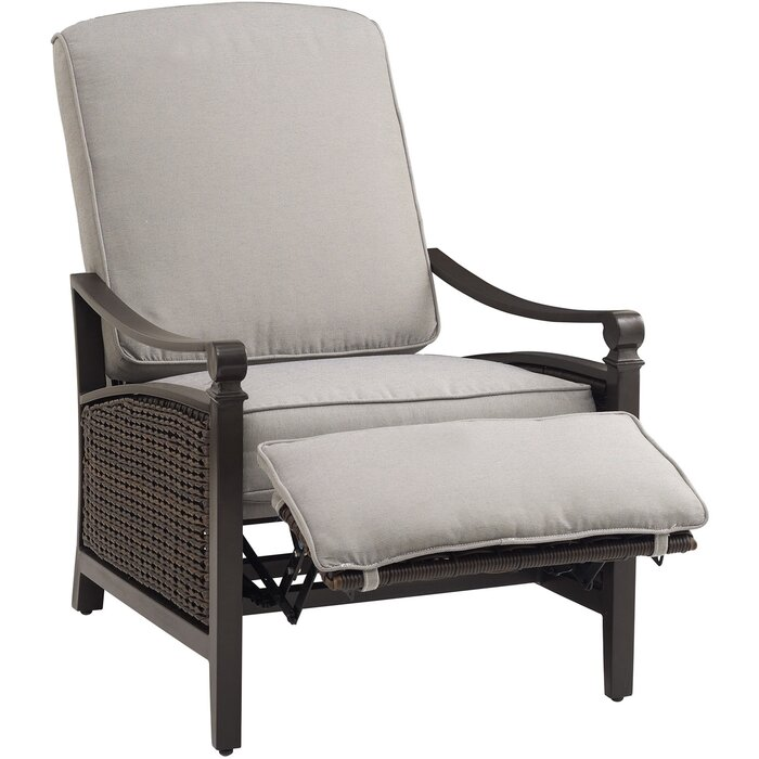 La-Z-Boy Carson Luxury Outdoor Recliner Chair with Cushion & Reviews ...