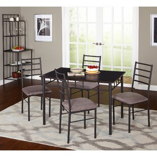 Noemi 5 Piece Dining Set with Baker's Rack